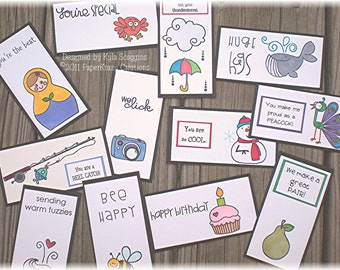 Lunch Box Love Notes Series 12a, Lunch Notes for Kids, Lunch Box Notes