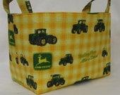 Fabric Organizer Bin Storage Container Basket - John Deere Tractor