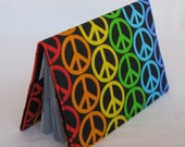 Passport Cover - Multi Color Peace Signs