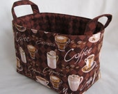 Fabric Storage Basket Container Organizer Bin - Coffee - Java - Espresso - Latte