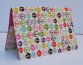Passport Travel Holiday Case Cover - Mini Multi Color Peace Signs