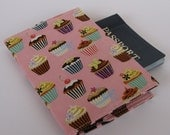 Passport Cover Fabric - Mini Cupcakes on Pink
