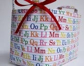 Storage and Organization - Fabric Organizer Container Basket Bin - Alphabet - ABCs - BaffinBags