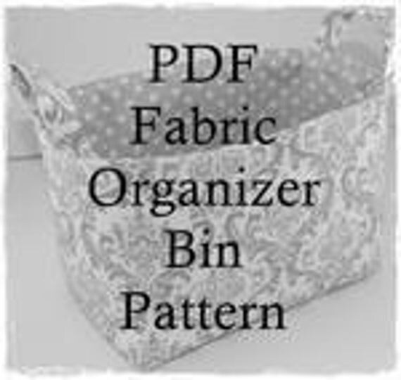 Fabric Halloween Basket - PDF Sewing Pattern/Tutorial -  Fabric Organizer Storage Container Bin Basket  - Fabric Easter Basket