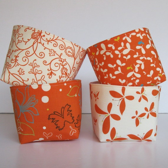 Items Similar To Mini Size Fabric Storage Container