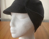 Grey Merino Wool Cycling Cap (S\/M)