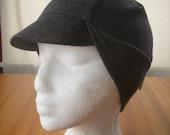 Grey Merino Wool Cycling Cap (S\/M)