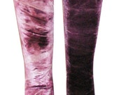 Purple Tie-Dye Crush Velvet Stretch Leggings Size 6-8