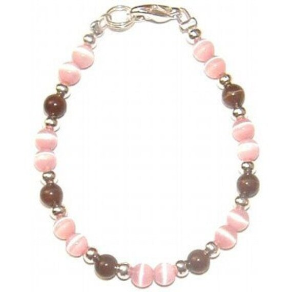 Pink and Brown Cats Eye Bargain Bracelet
