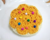 Frosted Sugar Cookie Brooch and Hair Clip in Yellow