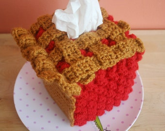 Slice of CHERRY Pie Tissue Box Cozy -Made To Order