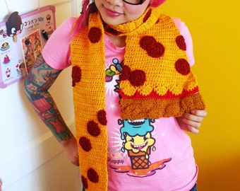 Pepperoni Pizza Scarf - Ready to Ship