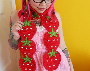 Sweet Strawberry Scarf - Made to Order