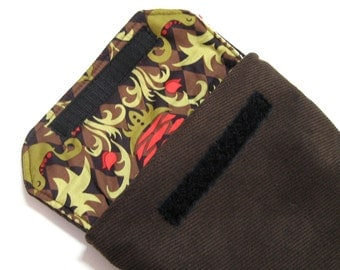 eReader Kindle Sleeve - Brown Corduroy Microfiber - Unisex - Fits Kindle Touch Kindle Keyboard Kindle Fire Nook color and Nook Tablet