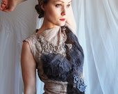 Dresses SALE - Nuno felted eco chic dress - Tresor OOAK - last sale 30 percent off