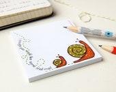 Snail Post-It Notes - Snail Mail - Sticky Notes