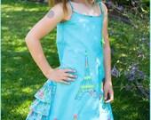 Bonjour Paris Custom applique dress Size 2T to 12