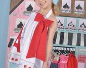 Girls Paris dress, halter dress, Eiffel tower dress, summer dress, white red navy dress, dress like my doll, Paris party dress