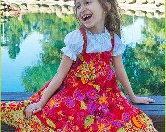 Girls twirl dress, fall winter dress, asymmetrical dress, corduroy twirl dress, back to school, red green orange purple, christmas dress