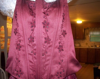 Sale Burgundy Formal Dress (Woman's Size 8)