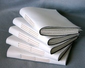 Blank White Canvas Art Journal - Handbound - Blank gesso cover ready for your art - Free Media Mail Shipping