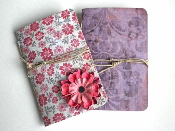 Hand bound Notebooks - set of 2 - Haiti Relief - No.9