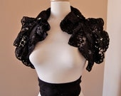 ODILE vintage lace bolero wrap and sash