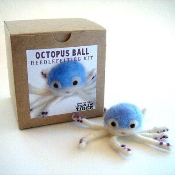 Octopus Ball Needle Felting Kit