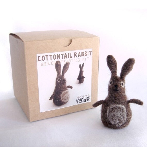Cottontail Rabbit Needle Felting Kit