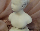 Lovely Vintage Chalkware Bust of a Young Lady