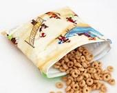 Sock Monkey at the Beach - MamaMade Eco-Friendly Reusable Sandwich Bag