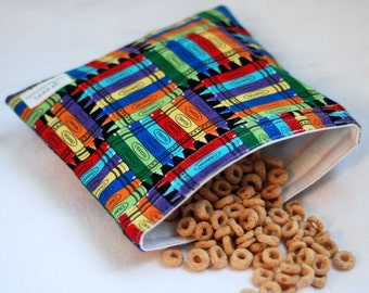Crayon Box - Medium Reusable Sandwich Bag from green by mamamade