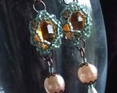 Amber Vintage Earrings