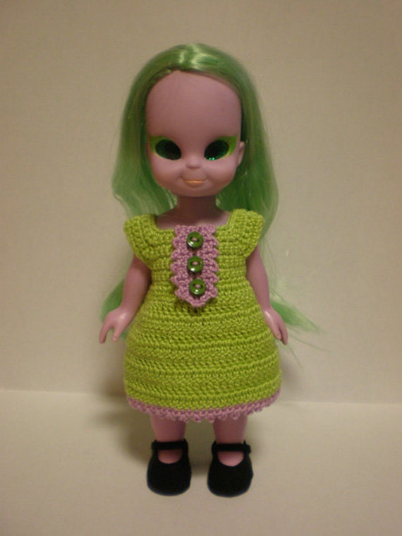 Emerald The Enchanting Witch Crochet Dress - Green and Purple