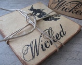 WICKED Halloween Mini Notecards/Placecards Set/5