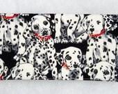 Checkbook Cover - Dalmatians in black and white