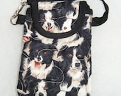 Quilted Cell Phone cover - Border Collies