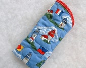 Quilted Sunglass/Eyeglass case - Lighthouses