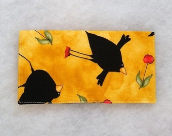 Checkbook Cover - Dancing Crows