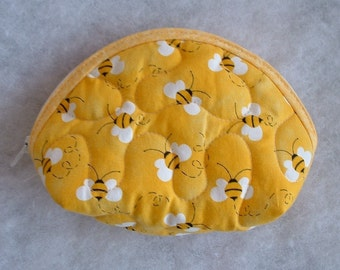 Small Quilted Purse - Bumblebees 2