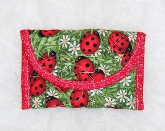 Card Holder - Ladybugs large