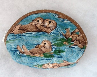 Small Quilted Purse - Otters