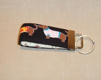 Mini Key Fob  - Doxies with sweaters