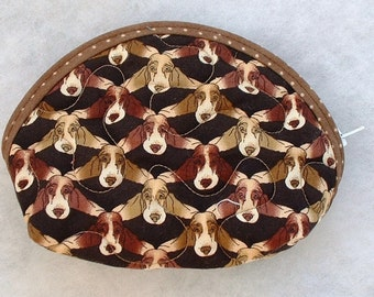 Small Quilted Purse- Basset Hound too