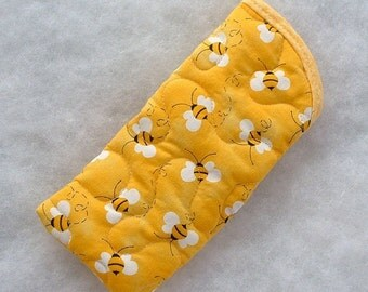 Quilted Sunglass/Eyeglass case - Bumblebees 2