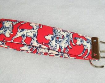 Key Fob wristlet - Dalmatians