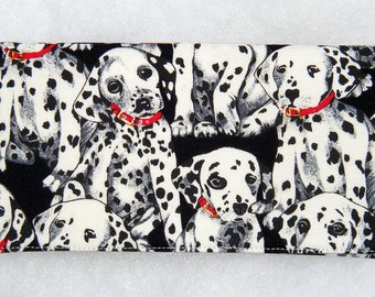 Checkbook Cover - Dalmatians in black and white
