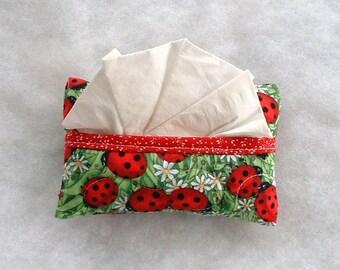 Tissue Holder Quilted -  Ladybugs large