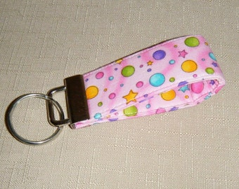 Mini Key Fob  - Pink Dots