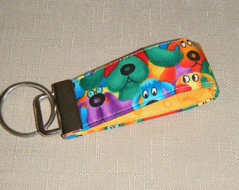 Mini Key Fob  - Rainbow Dogs